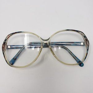 Vintage Large Round Eyeglass Frames Red Blue 1980s